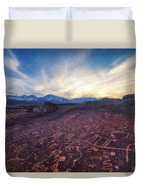 Sky Rock Duvet Cover