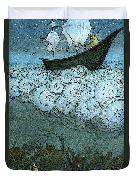 Sky Sailing Duvet Cover