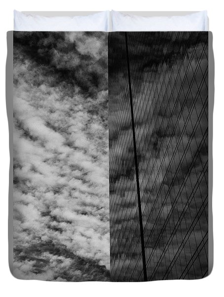 Duvet Cover featuring the photograph Sky Show by Lora Lee Chapman