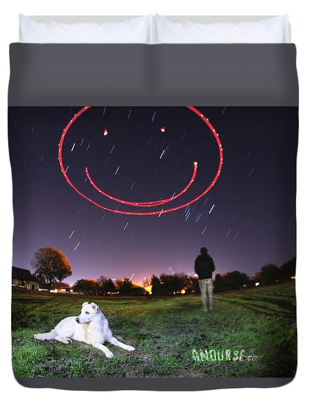 Sky Smile Duvet Cover