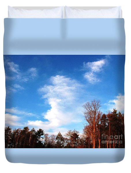 Duvet Cover featuring the photograph Sky Study 1 3/11/16 by Melissa Stoudt