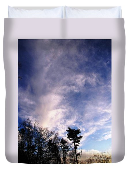 Duvet Cover featuring the photograph Sky Study 2 3/11/16 by Melissa Stoudt
