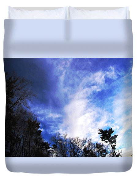 Duvet Cover featuring the photograph Sky Study 4 3/11/16 by Melissa Stoudt