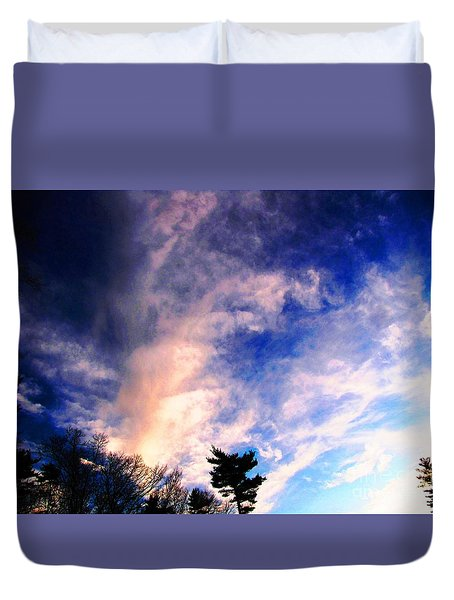 Duvet Cover featuring the photograph Sky Study 5 3/11/16 by Melissa Stoudt