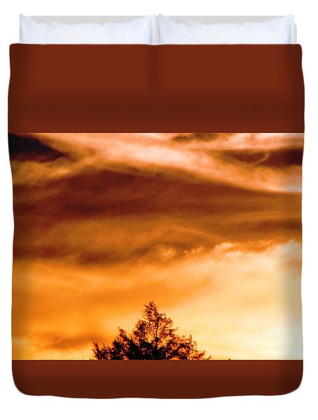 Duvet Cover featuring the photograph Eye Of Jupiter by Melissa Stoudt