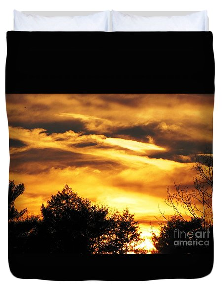 Duvet Cover featuring the photograph Sky Study 7 3/11/16 by Melissa Stoudt