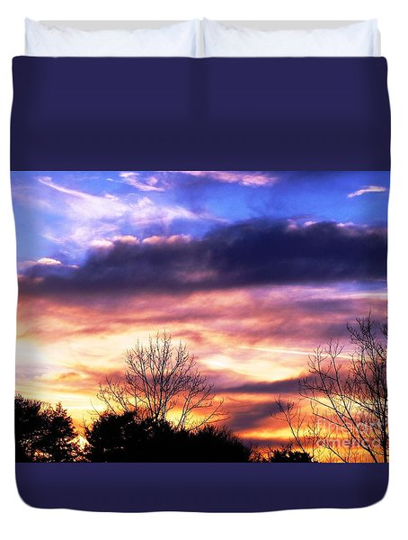 Duvet Cover featuring the photograph Sky Study 8 3/11/16 by Melissa Stoudt