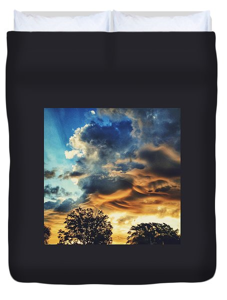 Duvet Cover featuring the photograph Sky Surf by Nikki McInnes