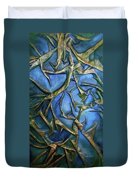 Sky Through The Trees Duvet Cover by Angela Stout