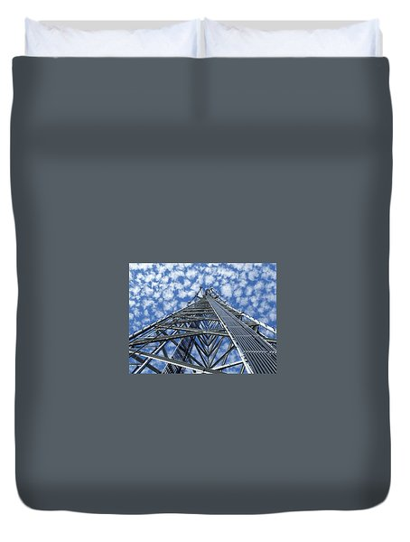 Duvet Cover featuring the photograph Sky Tower by Robert Geary