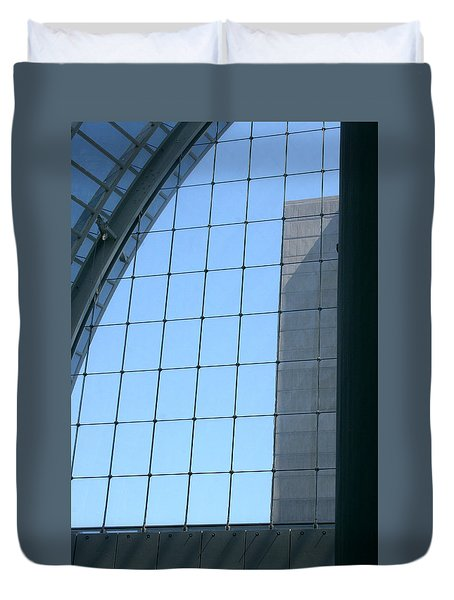 Duvet Cover featuring the photograph Sky View by Emanuel Tanjala