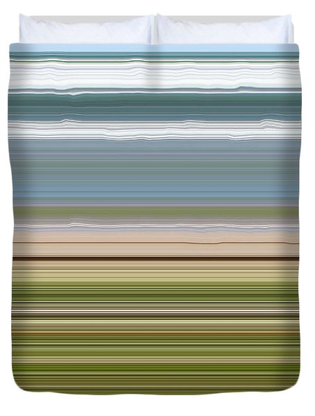 Sky Water Earth Grass Duvet Cover by Michelle Calkins