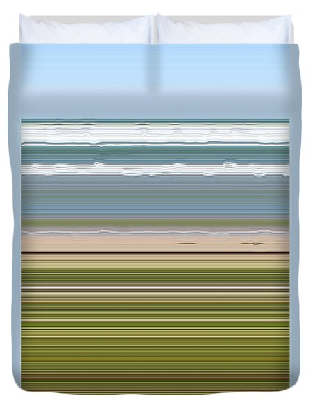 Sky Water Earth Grass Duvet Cover