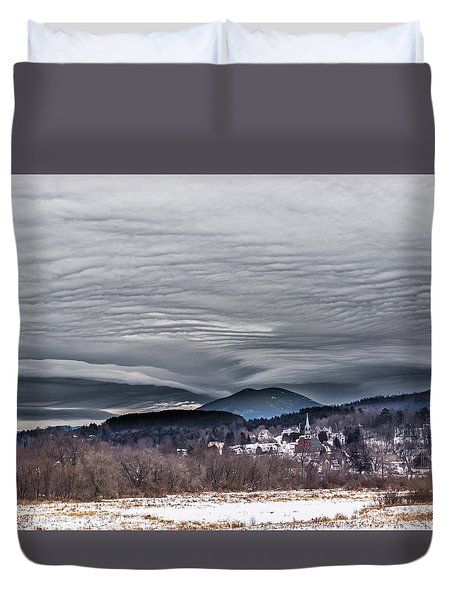Sky Waves Duvet Cover by Tim Kirchoff