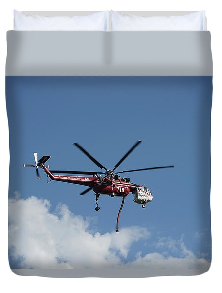 Skycrane Works The Red Canyon Fire Duvet Cover