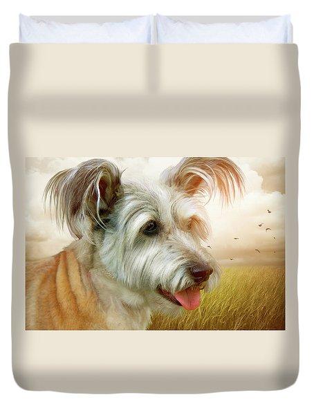 Skye Terrier Duvet Cover