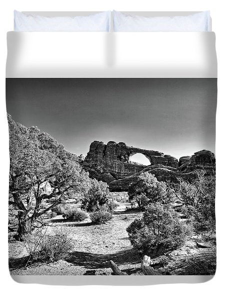 Skyline Arch In Arches National Park Duvet Cover