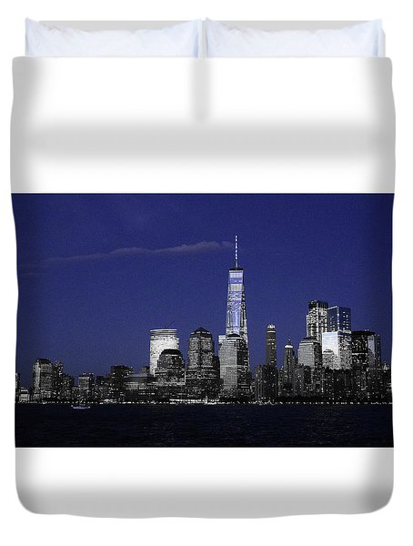 Skyline At Night  Duvet Cover