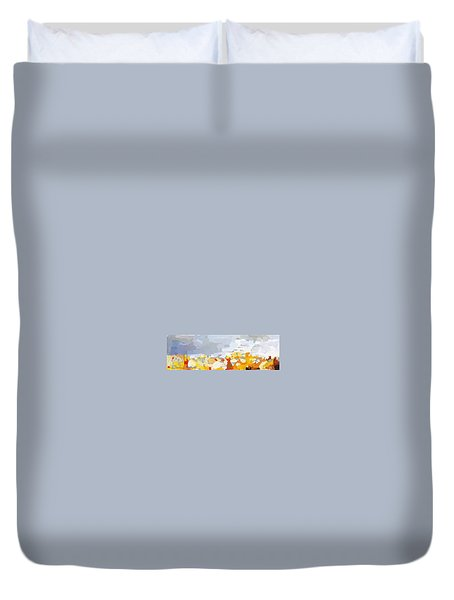 Skyline Cambridge, Uk Duvet Cover by Melissa Abbott