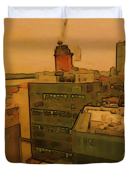 Skyline Crain Duvet Cover