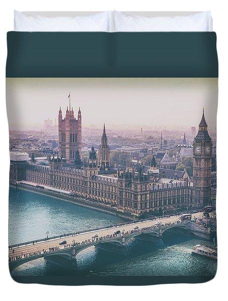 Skyline From The London Eye Duvet Cover