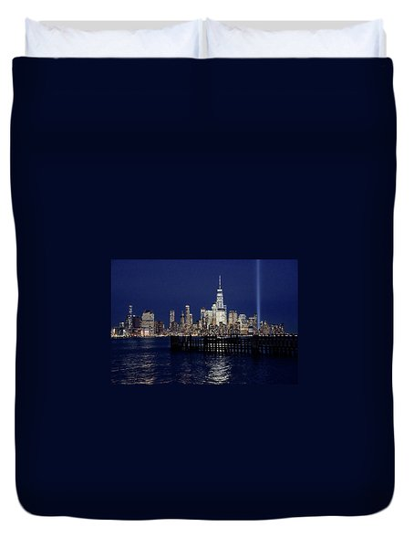 Skyline Lights Duvet Cover