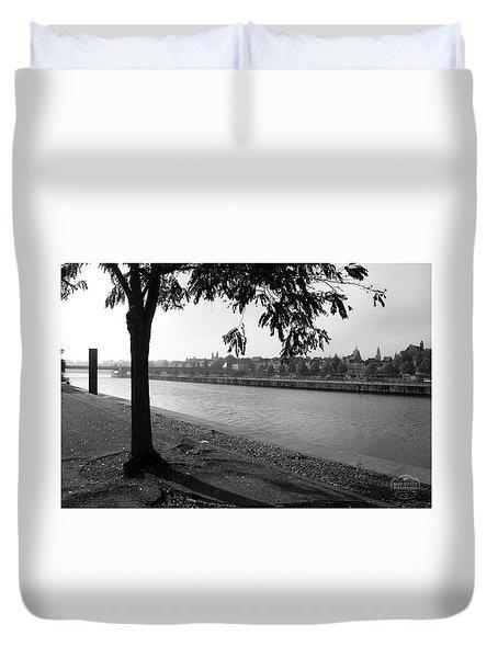 Skyline Maastricht Duvet Cover by Nop Briex