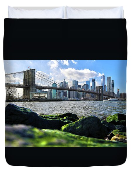 Duvet Cover featuring the photograph Skyline by Mitch Cat