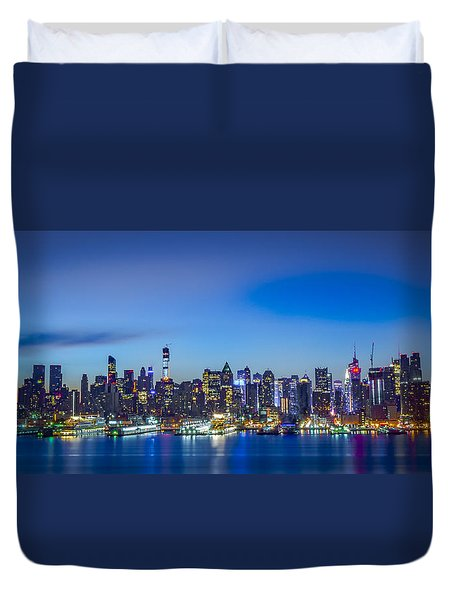 Skyline Nyc Before Sunrise Duvet Cover