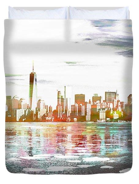 Skyline Of New York City, United States Duvet Cover