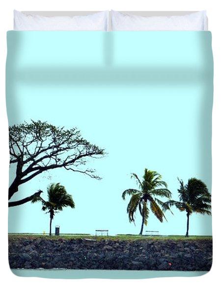 Skyline On Blue Duvet Cover