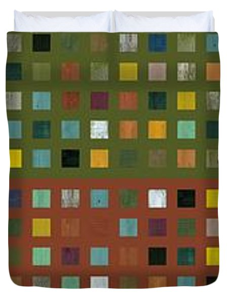 Skyscraper Abstract Ll Duvet Cover by Michelle Calkins