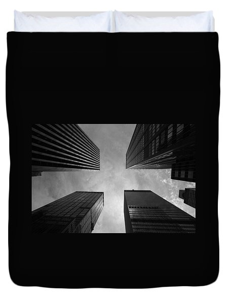 Skyscraper Intersection Duvet Cover