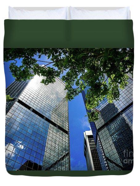 Skyscraper Spring Duvet Cover by Deborah Nakano