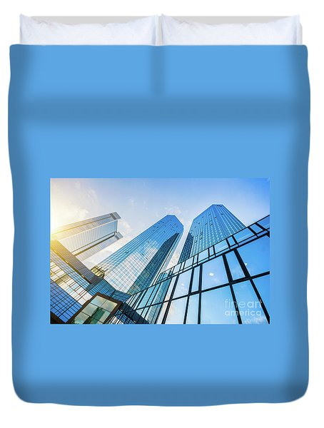 Skyscrapers Duvet Cover by JR Photography