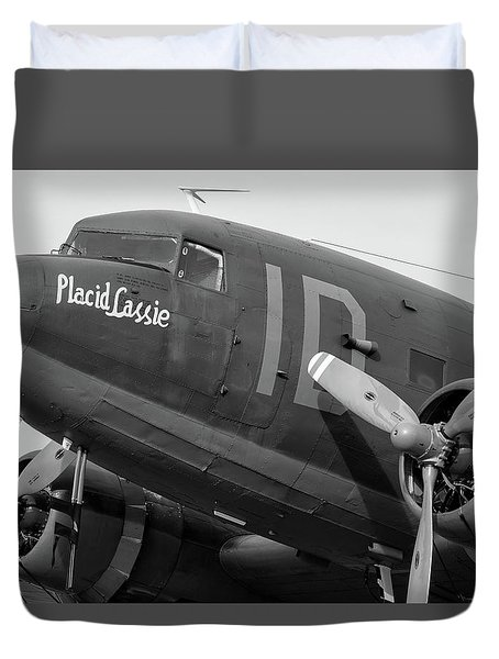 Skytrain In Black And White - 2017 Christopher Buff, Www.aviationbuff.,com Duvet Cover