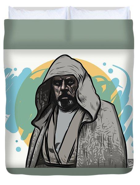 Duvet Cover featuring the digital art Skywalker Returns by Antonio Romero