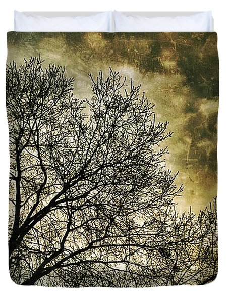 Duvet Cover featuring the photograph Skyward by Al Harden