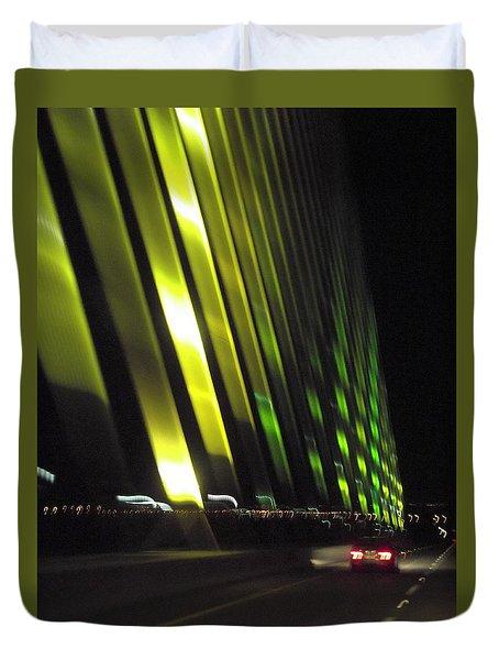 Skyway At Night 5559 Duvet Cover