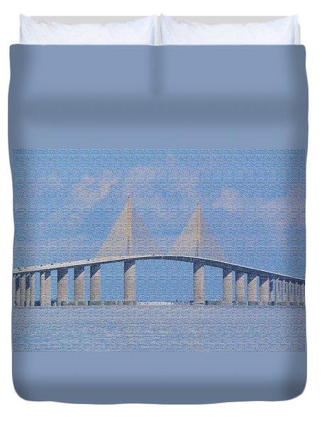 Skyway Bridge Duvet Cover by Rosalie Scanlon