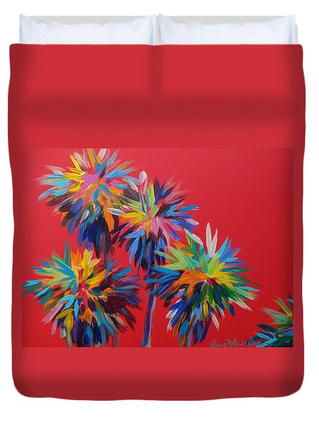 Sl Palms Duvet Cover