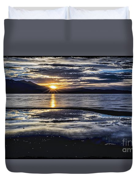 Slack Time Duvet Cover by Mitch Shindelbower