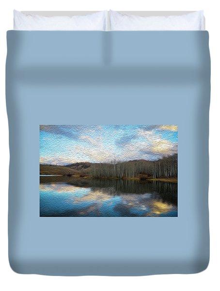 Slack Weiss Lake Duvet Cover