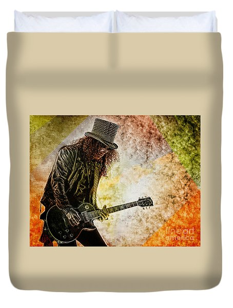 Slash - Guitarist Duvet Cover