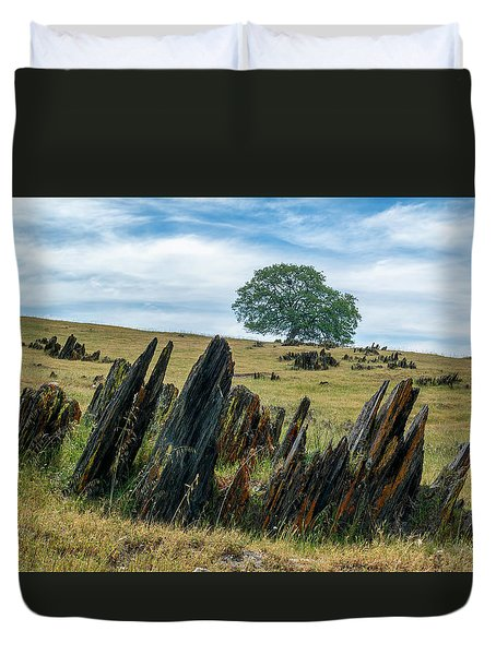 Slate Filled Meadow Duvet Cover