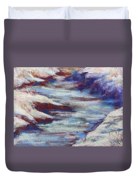 Slate River Melt Duvet Cover