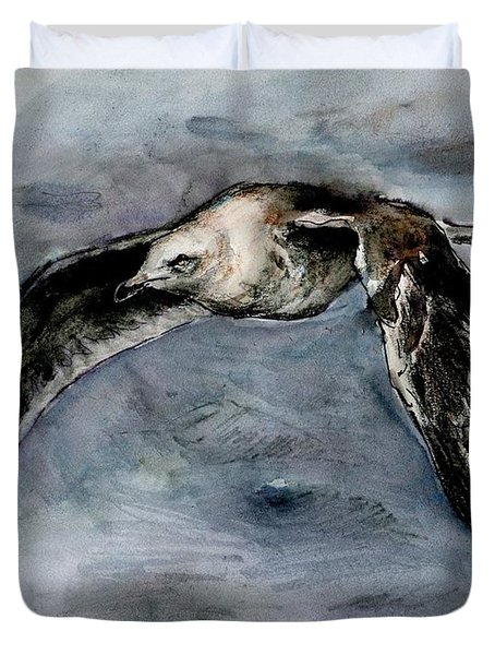 Slaty-backed Gull Duvet Cover