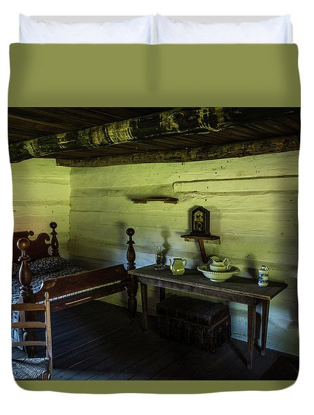 Duvet Cover featuring the photograph Slave Quarters - The Hermitage by James L Bartlett
