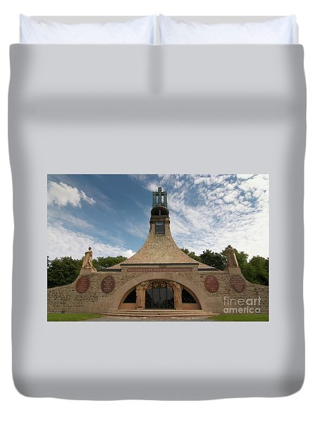 Duvet Cover featuring the photograph Slavkov Peace Memorial by Michal Boubin