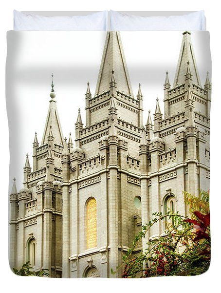 Slc Temple Angle Duvet Cover by La Rae  Roberts